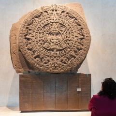 Mayan calendar in the Mexico city anthropology museum