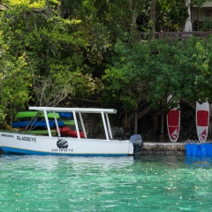 Glass bottom boat tours are available