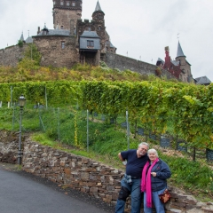 Family at Cochem Castle, Germany