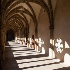 Hallway inside the Cathedral of Trier, Germany