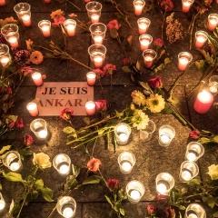 Candle Vigil for those murdered in Ankara ,Turkey