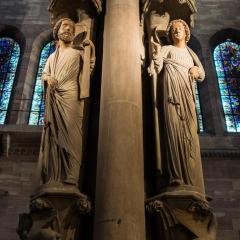 Details in Notre Dame de Strasbourg Cathedrale, Strasbourg, France