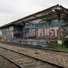 Old station on the Chemin de fer de Petite Ceinture