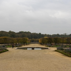 Garden of the Grand Trianon in Fall