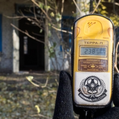Geiger Counter Outside the Elementary School
