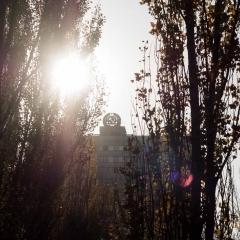 Soviet Symbol Over Town Square - Pripyat