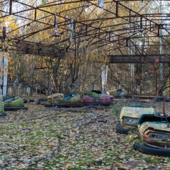 Bumper cars at the Pripyat fairgrounds