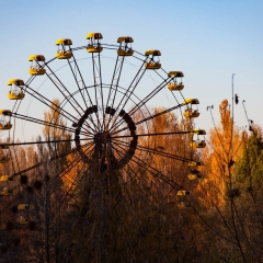 Ferris wheel at the fairgrounds in Pripyat