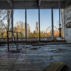 Ferris Wheel from Gymnasium - Pripyat