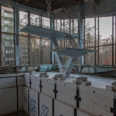 Pripyat pool, in use for a number of years after the accident