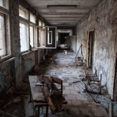 Hallway in the school, Pripyat