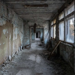 Hallway in Secondary School - Pripyat