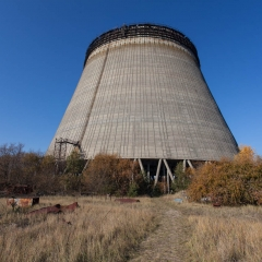 Unfished cooling tower from Chernobyl reactor 5