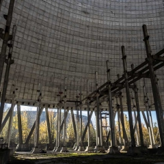 Under Unfinished Reactor 5 - Chernobyl