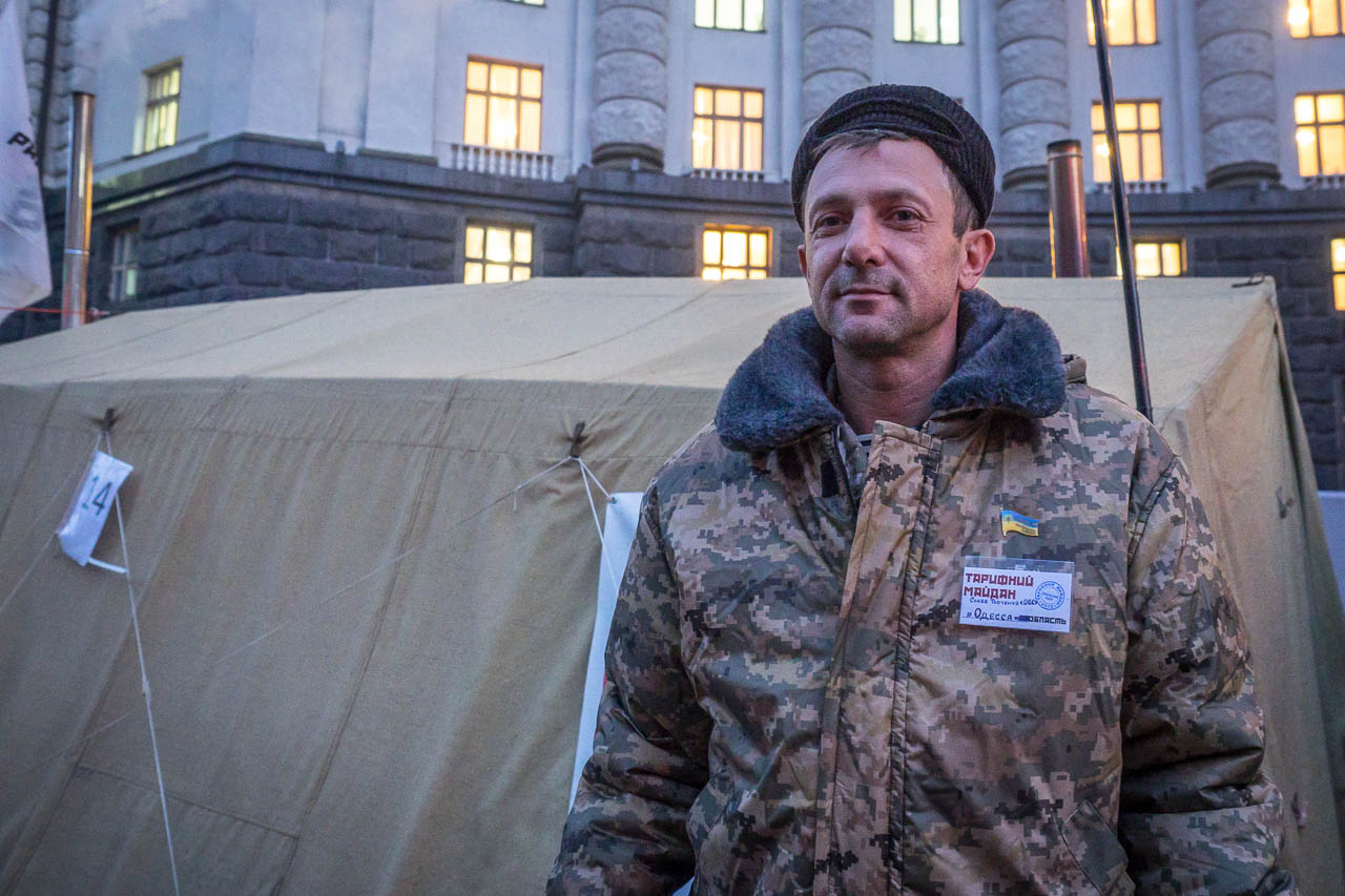 Slava Tkachenko, one of the leaders of the protest from Odessa