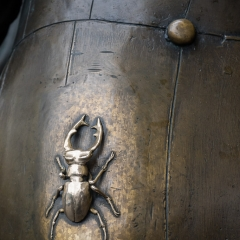 Good luck beetle on statue