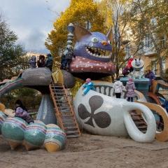 Alice in Wonderland themed playground