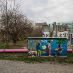 East Side Gallery and park
