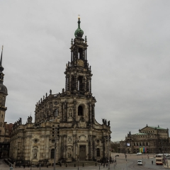 Towards the Opera House, Dresden