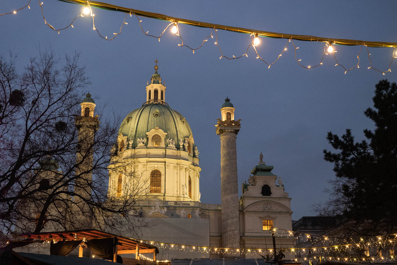 Vienna at Night - Christmas Market