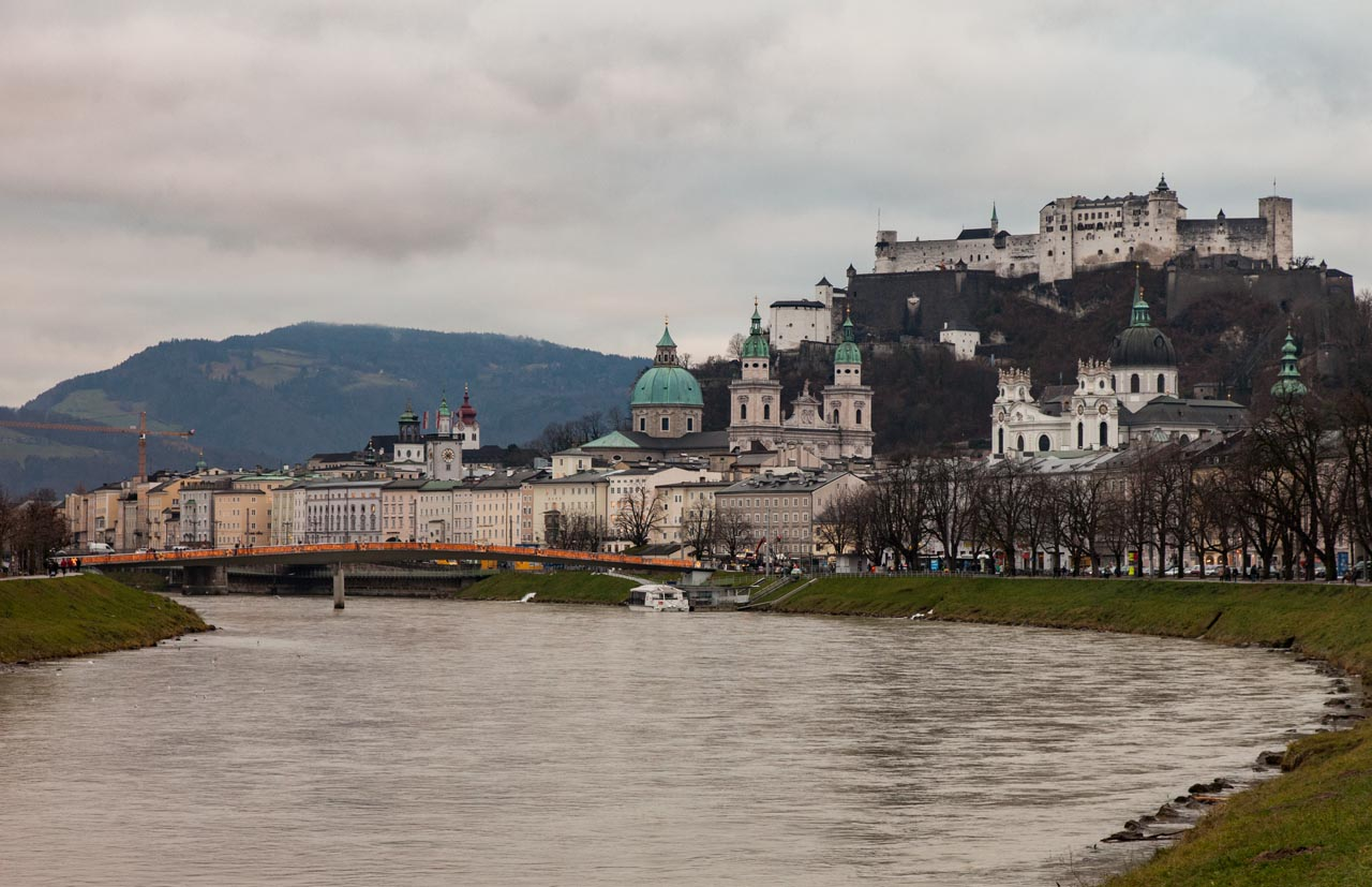 Hohensalzburg Castle from the river