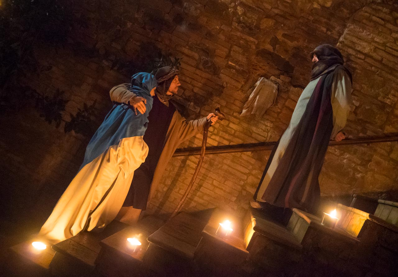 Precepe or Live Nativity in Petrignano d'Assisi