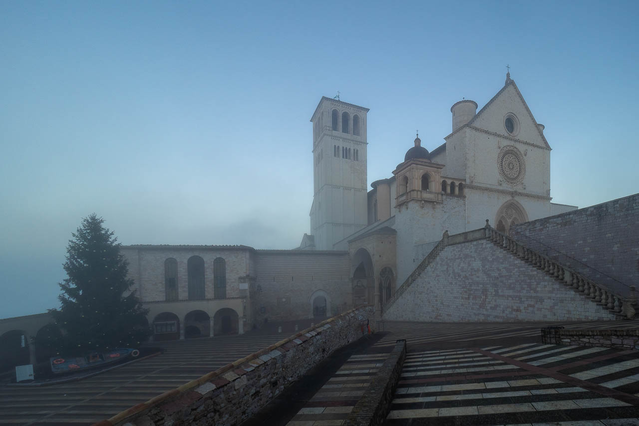 Basilica of Saint Francis of Assisi in the Fog