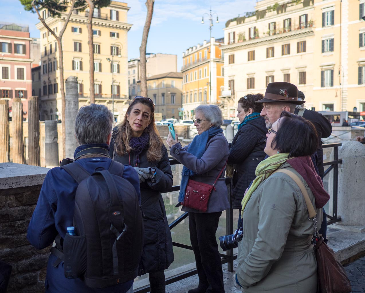 Workshop tour of the Torre della Argentina
